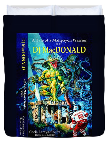 Dj Macdonald Book Cover Duvet Cover by Hanne Lore Koehler