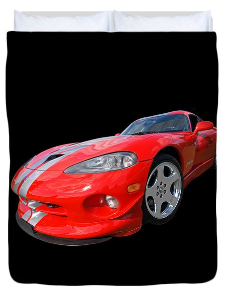 Dodge Viper Gts Duvet Cover by Gill Billington