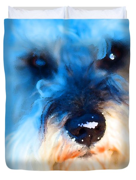 Dog 2 . Photo Artwork Duvet Cover by Wingsdomain Art and Photography