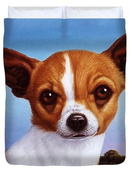 Dog-nature 3 Duvet Cover by James W Johnson