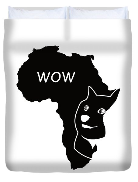 Dogecoin In Africa Duvet Cover by Michael Jordan