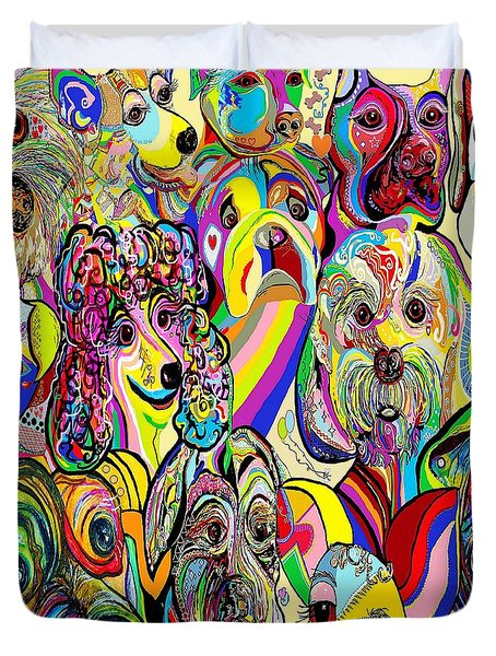 Dogs ... Dogs ... DOGS Duvet Cover by Eloise Schneider