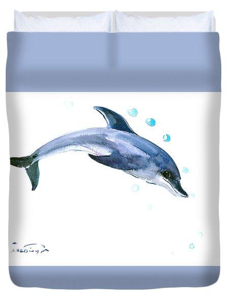 Dolphin Duvet Cover by Suren Nersisyan