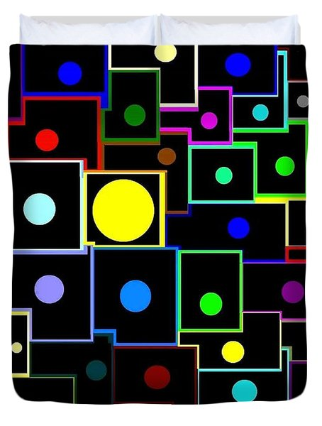 Domino Effect  Duvet Cover by Will Borden
