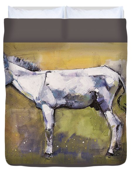 Donkey Stallion, Ronda Duvet Cover by Mark Adlington