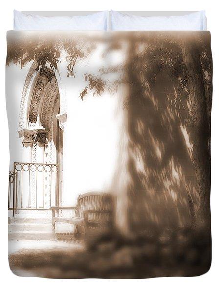 Door To Yesterday Duvet Cover by Lauren Radke