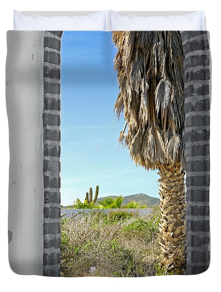 Doorway To The Desert Duvet Cover by Cheryl Young
