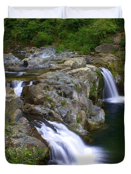 Double Falls Duvet Cover by Marty Koch