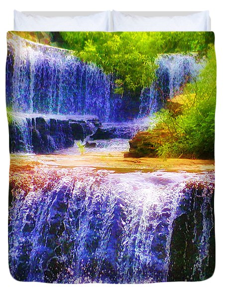 Double Waterfall Duvet Cover by Bill Cannon