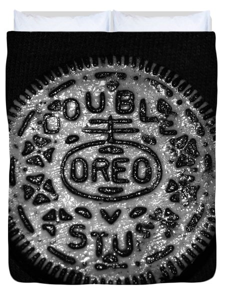 Doulble Stuff Oreo In Black And White Duvet Cover by Rob Hans