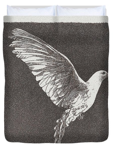 Dove Drawing Duvet Cover by William Beauchamp