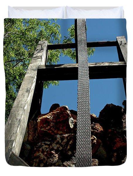 Down the Shaft Virginia City NV Duvet Cover by LeeAnn McLaneGoetz McLaneGoetzStudioLLCcom