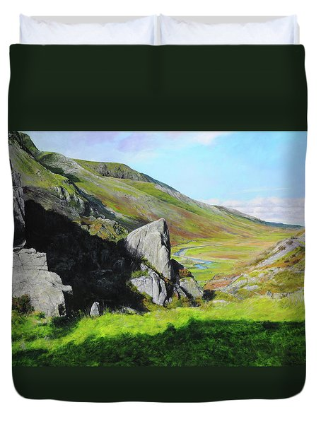Down The Valley Duvet Cover by Harry Robertson