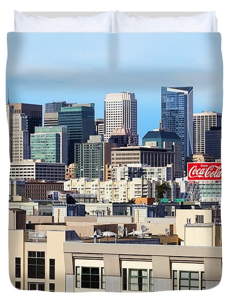 Downtown San Francisco Duvet Cover by Kelley King