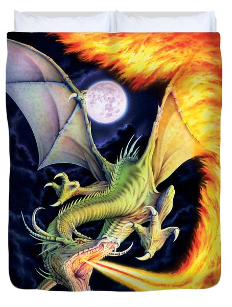 Dragon Fire Duvet Cover by The Dragon Chronicles