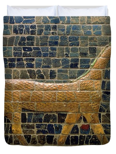 Dragon Of Marduk - On The Ishtar Gate Duvet Cover by Anonymous