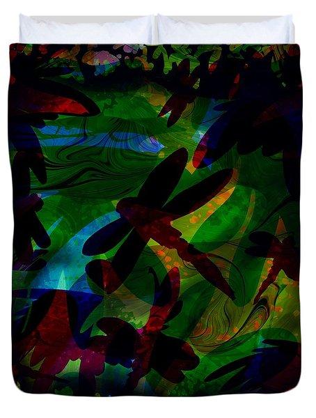 Dragonfly Duvet Cover by Rachel Christine Nowicki