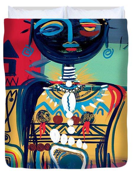Dreaming Of Africa Duvet Cover by Oglafa Ebitari Perrin