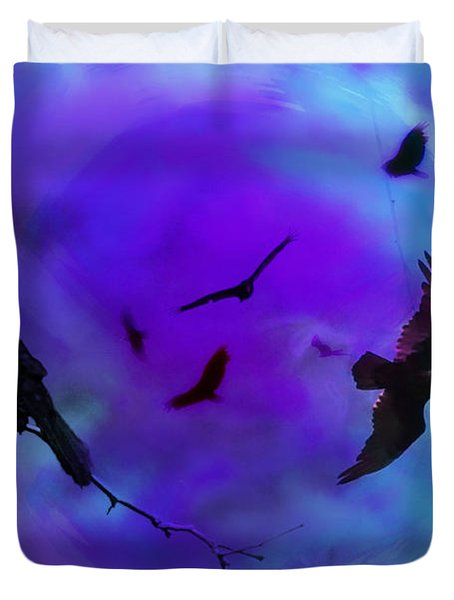Dreaming Of Flying Duvet Cover by Bill Cannon