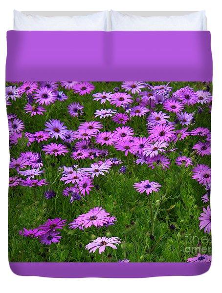 Dreaming Of Purple Daisies  Duvet Cover by Carol Groenen