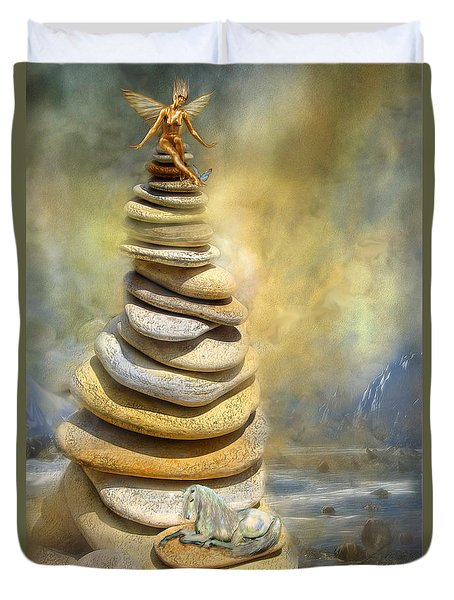 Dreaming Stones Duvet Cover by Carol Cavalaris