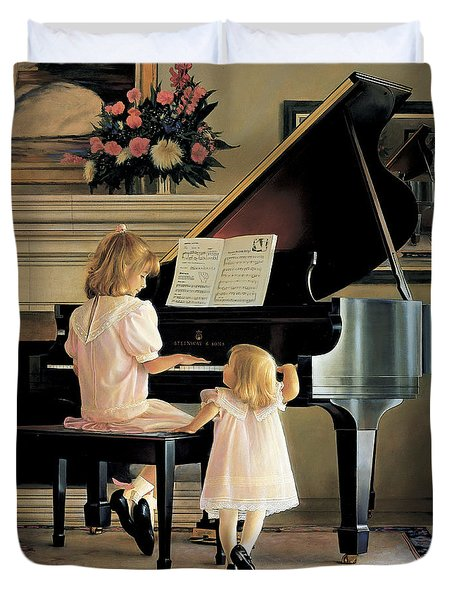 Dress Rehearsal Duvet Cover by Greg Olsen