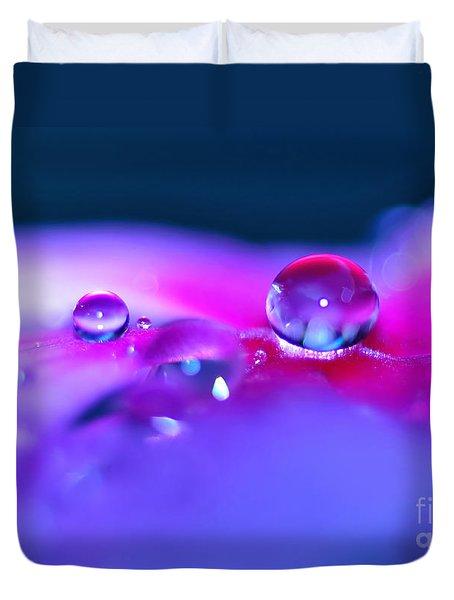 Droplets In Fantasyland Duvet Cover by Kaye Menner