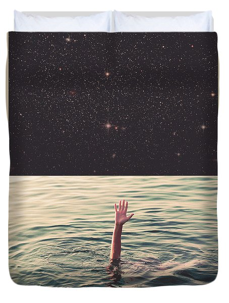Drowned In Space Duvet Cover by Fran Rodriguez