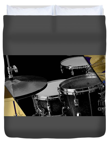 Drum Set Collection Duvet Cover by Marvin Blaine