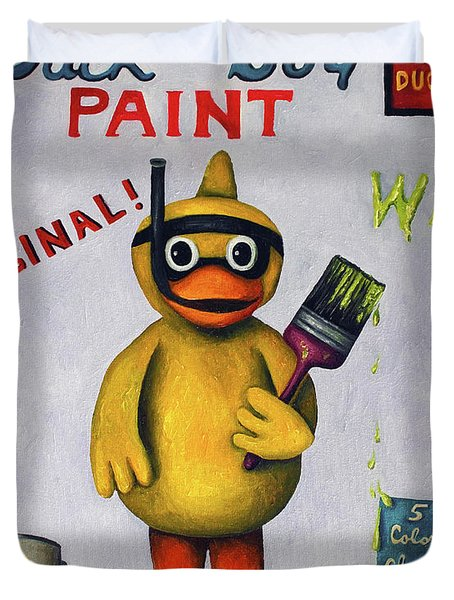Duck Boy Duvet Cover by Leah Saulnier The Painting Maniac