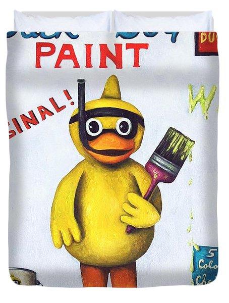 Duck Boy Paint Duvet Cover by Leah Saulnier The Painting Maniac