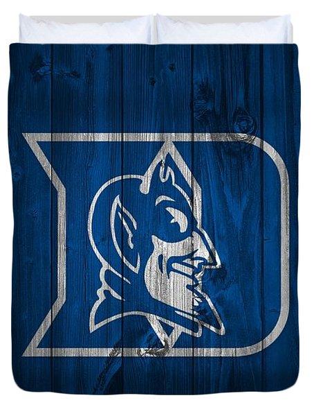 Duke Blue Devils Barn Door Duvet Cover by Dan Sproul