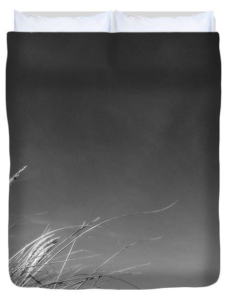 Dune Grass With Sky Duvet Cover by Michelle Calkins