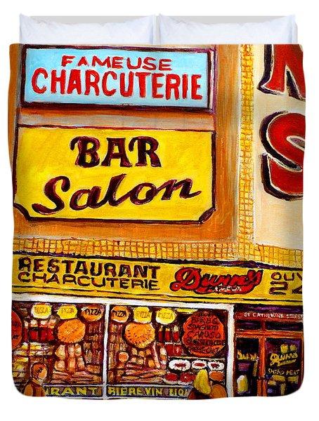 Dunn's Restaurant Montreal Duvet Cover by Carole Spandau