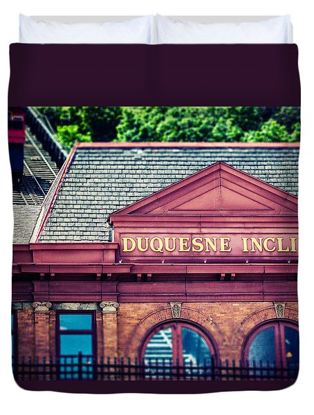 Duquesne Incline of Pittsburgh Duvet Cover by Lisa Russo