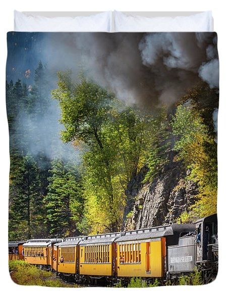 Durango-silverton Narrow Gauge Railroad Duvet Cover by Inge Johnsson