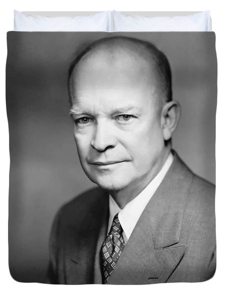 Dwight Eisenhower Duvet Cover by War Is Hell Store