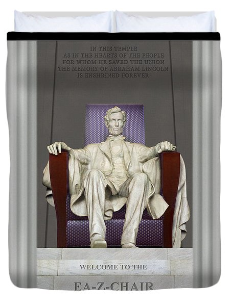 Ea-z-chair Lincoln Memorial Duvet Cover by Mike McGlothlen
