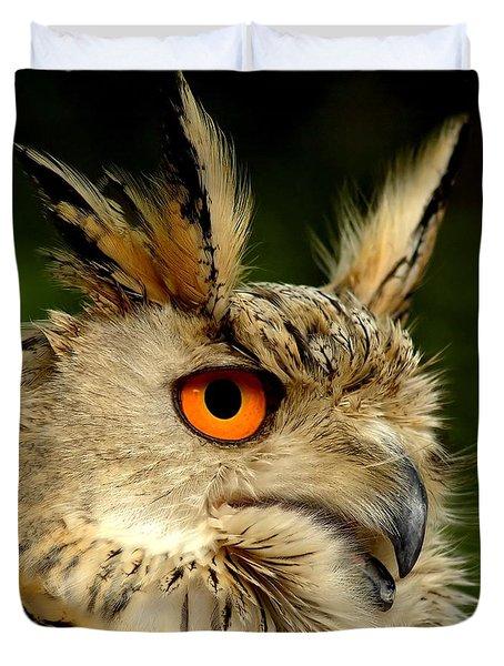 Eagle Owl Duvet Cover by Photodream Art
