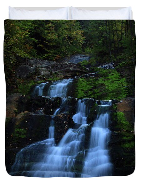 Early Morning Falls Duvet Cover by Karol Livote