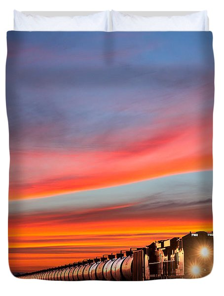 Early Morning Haul Duvet Cover by Todd Klassy