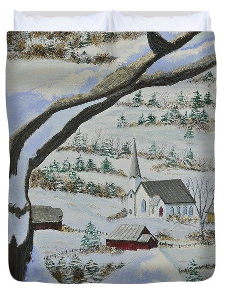 East Orange Vermont Duvet Cover by Charlotte Blanchard