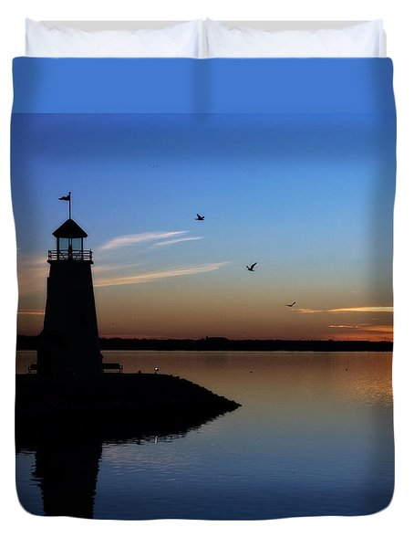 East Warf Sunset Duvet Cover by Lana Trussell