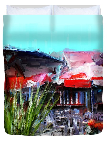 Eat At Joe's Duvet Cover by Methune Hively