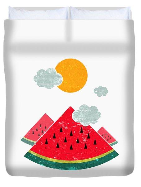 Eatventure Time Duvet Cover by Mustafa Akgul