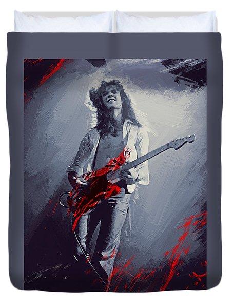 Eddie Van Halen Duvet Cover by Afterdarkness