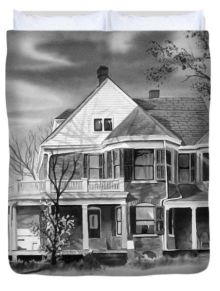 Edgar Home Bw Duvet Cover by Kip DeVore