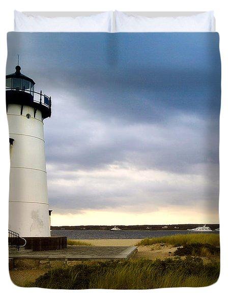 Edgartown Lighthouse Cape Cod Duvet Cover by Matt Suess