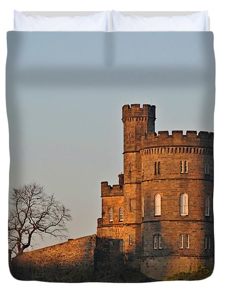Edinburgh Scotland - Governors House And Obelisk Calton Hill Duvet Cover by Christine Till