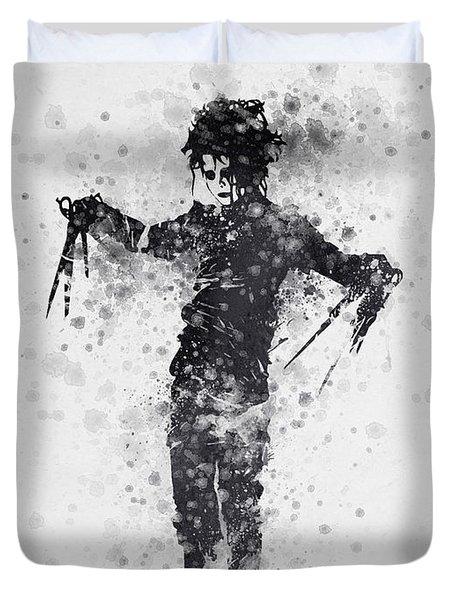 Edward Scissorhands 01 Duvet Cover by Aged Pixel